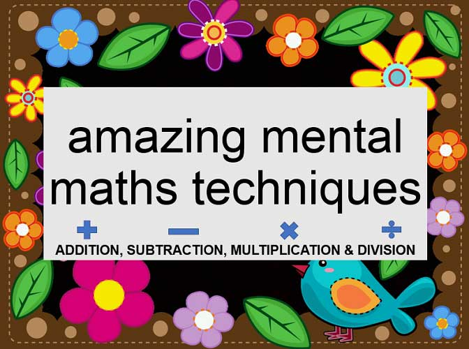Do Mental Maths Fast with Four Tips
