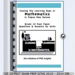 Grade 10 past maths exam papers and memos