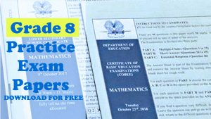 Grade 8 Mathc Exam Practice Papers Download