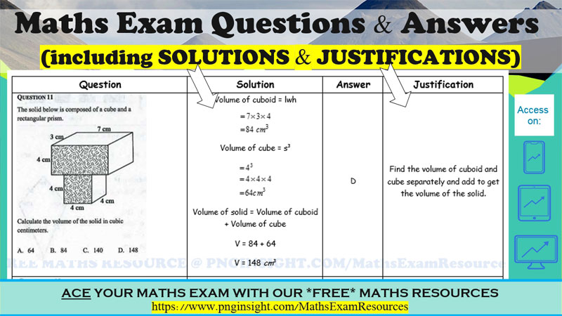 MATHS EXAM QUESTIONS AND ANSWERS PDF